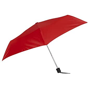 Mini Compact Manual Nova Umbrella by Leighton Umbrellas,One Size,Red
