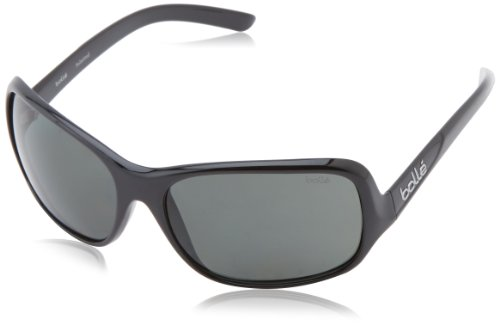 Bolle Women's Kassia Sunglasses, Shiny Black Frame, True Neutral Smoke - Sunglasses Photochromic Bolle
