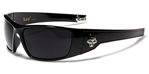 Large OG Locs Dark Lens Sunglasses - Black & - Sunglasses Online Dark