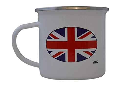 (UK UNited Kingdom Camp Mug Enamel Camping Coffee Cup Gift Union Jack Camping Gear )