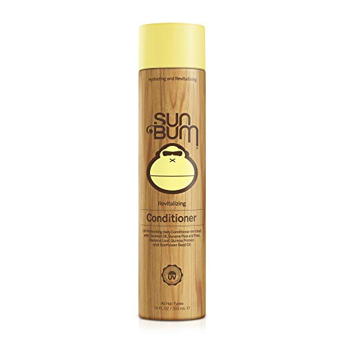 Sun Bum Revitalizing Conditioner, Smoothing and Shine Enhancing, Paraben Free, Gluten Free, Vegan, UV Protection, 10 oz Bottle, 1 Count