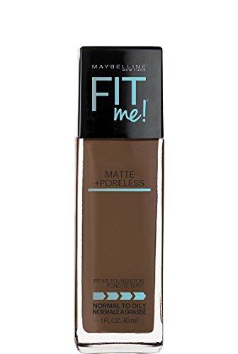Maybelline Makeup Fit Me Matte + Poreless Liquid Foundation Makeup, Truffle Shade, 1 fl oz