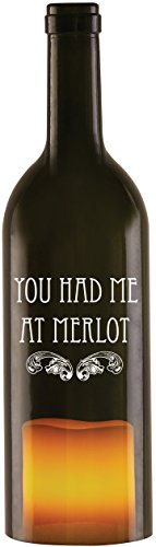 wine-all-the-time-22013-wine-bottle-candle-holder-with-led-candle-you-had-me-at-merlot-11-inch