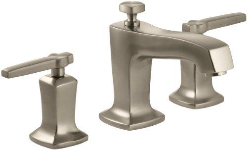 (KOHLER K-16232-4-BV Margaux Widespread Lavatory Faucet, Vibrant Brushed Bronze)