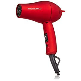 Babyliss Pro TT Tourmaline Titanium Travel Dryer, Red - 31Hd9CM ZHL - Babyliss Pro TT Tourmaline Titanium Travel Dryer, Red