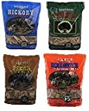 Western BBQ Smoking Wood Chips Variety Pack Bundle (4) Apple, Hickory, Mesquite and Pecan Flavors