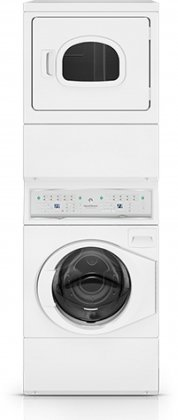 Speed Queen ATEE9AGP Electric Stacked Washer/Dryer with 9 Washer Cycles 7 Dryer Cycles 4 Temperature Selections Interior Light Reversible Door and End of Cycle in by Speed Queen