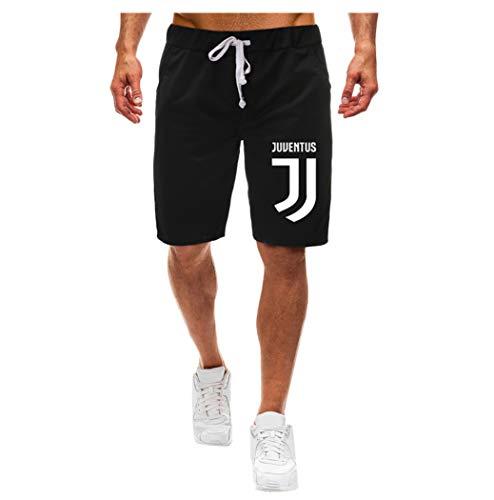 (YAYUMI Summer Men's Swim Trunks Pocket Casual Solid Color Five-Point Shorts Black)