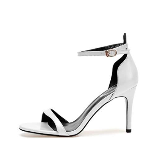 Bocca Fibbia Sandali Fish Pelle Donna High In Shoes A Mano Fatti Ultimate Roma Heels Da Scarpe Bianca Lady Peep Fine Con Fashion Liangxie S4H7xq