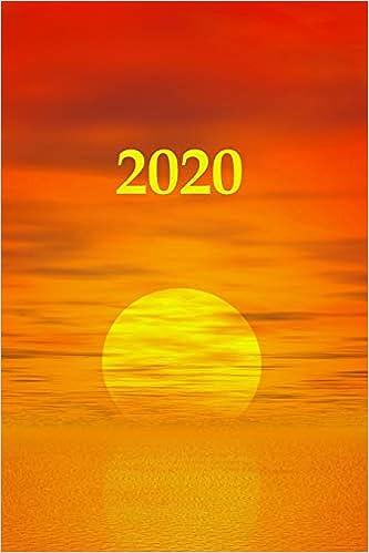 Calendrier Soleil.2020 Agenda Semainier 2020 Calendrier Des Semaines 2020