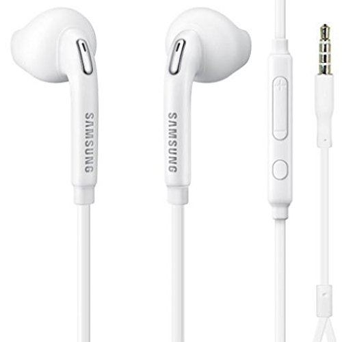 (Samsung Galaxy J3 Emerge Compatible Headset Samsung 3.5mm Handsfree Earphones w Mic Dual Earbuds Headphones in-Ear Stereo Wired)