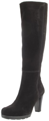 La Canadienne Women's May Knee-High Boot,Black Suede,7.5 M US