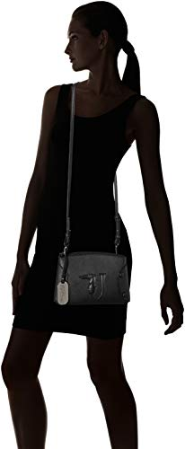 L Studs Covered Melissa Nero Bag H Tracolla Donna Shoulder Cm Jeans On A X Trussardi w black 23x16x6 Borsa Tone qXpZw