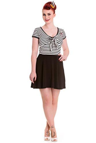 Marissa hell bunny-robe d'été taille :  l, noir/blanc, rayé)
