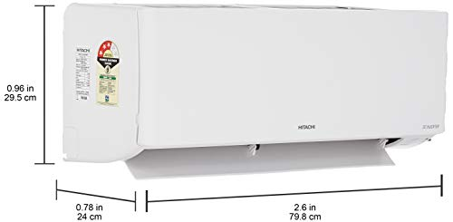 31HdIuwXW8L Hitachi 1 Ton 3 Star Inverter Split AC (Copper RSG311HCEA White)