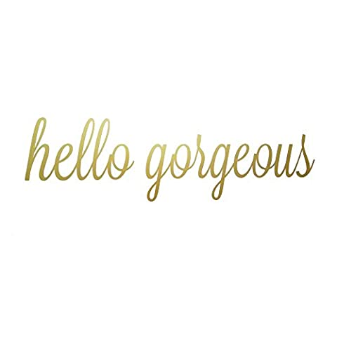 Hello Gorgeous Quote Mirror Decal Quotes Vinyl Wall Decals Bathroom Wall Sticker Home Decor (Hello Gorgeous (Bathroom Wall Decal Quotes)