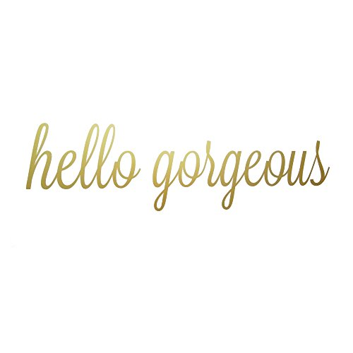 Cheap  Hello Gorgeous Quote Mirror Decal Quotes Vinyl Wall Decals Bathroom Wall Sticker..