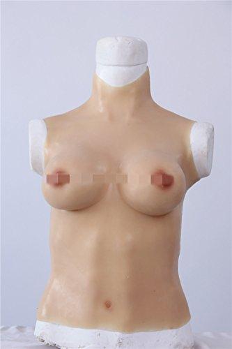 Kumiho シリコンバスト 人工乳房 モデル 偽胸 乳輪 おっぱい 女装 コスプレ 性転換 仮装 (アジア系黄色)