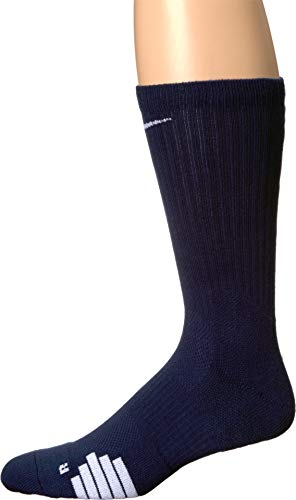 NIKE Elite Basketball Crew Socks (Midnight Navy/White, Medium) (Nike Youth Elite Basketball Socks)