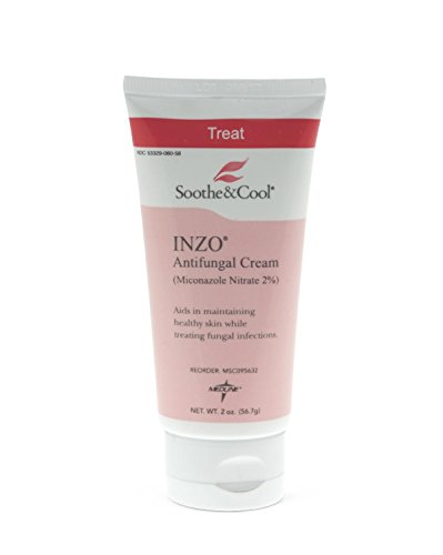 Medline Soothe & Cool Inzo Antifungal Cream, 2 oz
