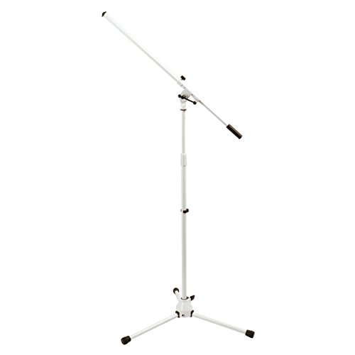On-Stage MS7801W Telescoping Microphone Boom Stand, White
