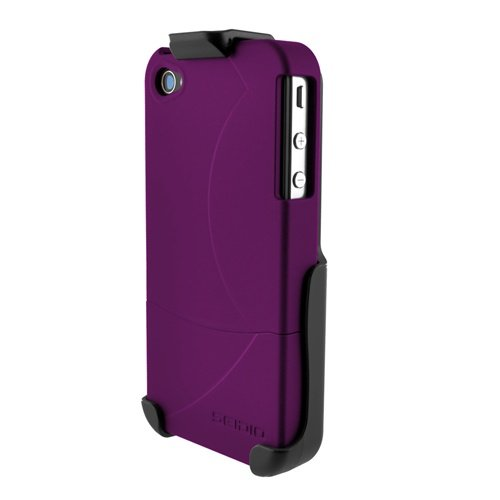 Seidio SURFACE Case and Holster Combo for iPhone 4 - Amethyst - Fits AT&T iPhone/Verizon - Surface Holster Seidio Innocase
