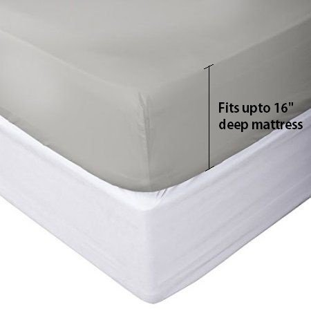 Brushed Deep Pocket Luxurious Microfiber Bedding King, Silver Grey Wrinkle Free and Fade Resistant Set Sale 1500 Thread Count LINENWALAS King Size Bed Sheet