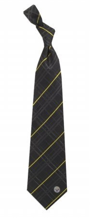 NFL Pittsburgh Steelers Men's Woven Silk Oxford Necktie, One Size, Multicolor