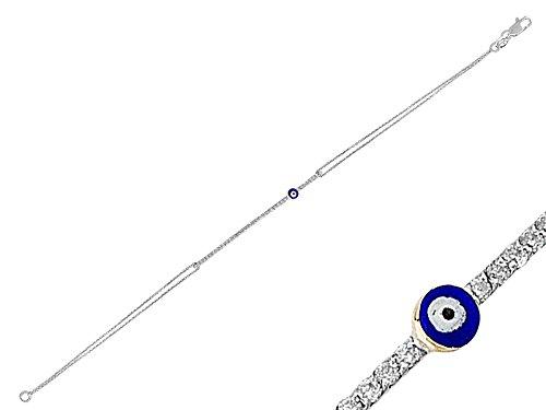 Bracelet Mauvais Œil-Femme- or Blanc 206B0006