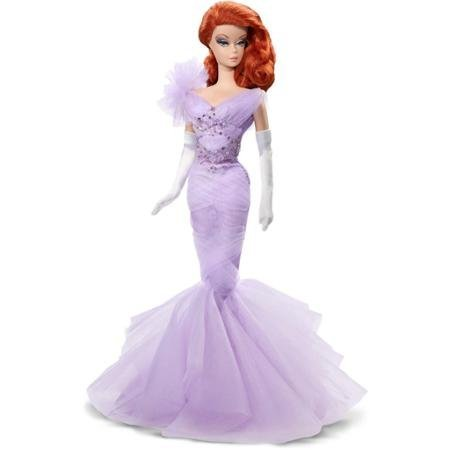 Barbie Collector Lavender Luxe Barbie Doll Most Prestigious Line Of Barbie Dolls Cast In Silkstone Material