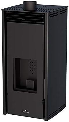 Poele A Pellet Sans Electricite Free 6 Kw Couleur Noire Amazon Fr Bricolage