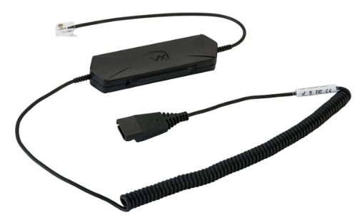 VXi 203365 OmniCord-V RJ9 Lower Cord with Universal Compatibility and Mic Gain Control for Connecting VXi V-QD Headsets to Compatible Phones