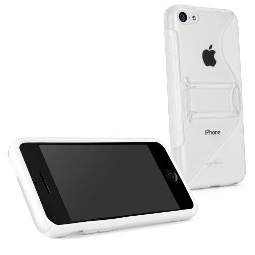 BoxWave Colorsplash Apple iPhone 5c avec support Durable, coque en TPU avec support pliable coloré et élégant, double forme de S pour iPhone 5c Blanc