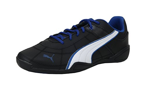 PUMA Tune Cat B 2 JR Sneaker (Little Kid/Big Kid) , Black/White/Surf The Web, 5.5 M US Big Kid