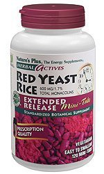 Nature's Plus - Herbal Actives Red Yeast Rice 600 mg Extended Release Mini-tabs, 120 count