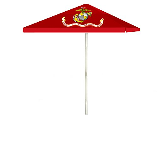 Best of Times 1020W1341 US Marines 8 ft Tall Square Market Umbrella, One Size, red