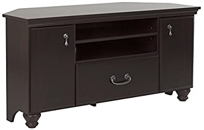 South Shore Noble Corner TV Stand for TVs Up to 55'', Dark Mahogany