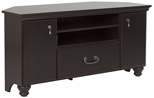 South Shore 10380 Noble Corner Stand-Fits TVs Up to 55'' Wide-Dark Mahogany
