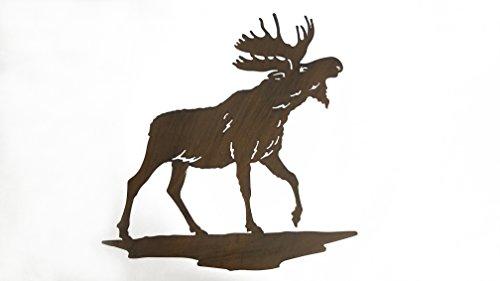 Everydecor Moose Silhouette Metal Wall Decor - Moose Metal Wall