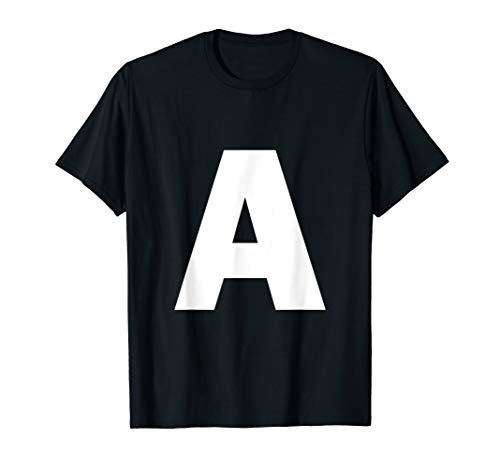 - Letter A Capital Alphabet Monogram Initial  T-Shirt