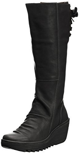 Fly London - Botas plataforma Black