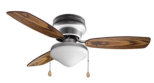 Ustellar 42 Inch Ceiling Fan with 3 Wooden Blades and Light