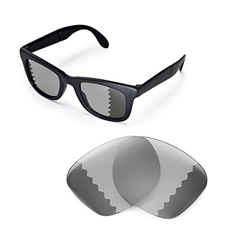 Walleva Replacement Lenses for Ray-Ban Wayfarer RB4105 50mm Sunglasses - Multiple Options Available(Transition/Photochromic - ()