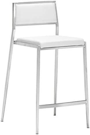Zuo Dolemite Counter Chair Set of 2 , White