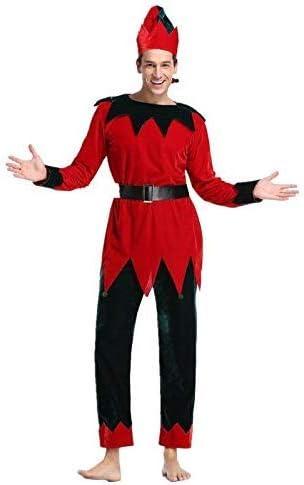 XYFW Disfraz De Elfo Disfraz Rojo De Santa Claus Nicholas con Top ...