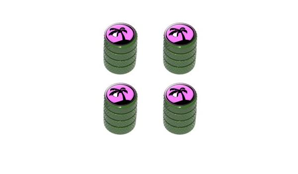 Amazon.com: Palm Tree and Moon Sunset Sunrise - Tire Rim Valve Stem Caps - Green: Automotive