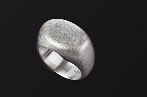 Sterling Silver statement ring Custom made to order Silver shield ring Sterling Silver Shield Ring Minimalist Unisex statement ring.