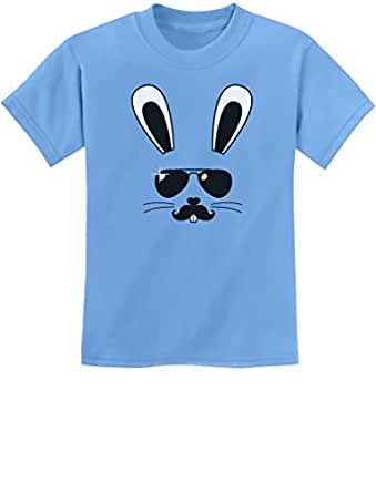 Tstars - Cool Easter Bunny Face Holiday Gift Cute Youth Kids T-Shirt X-Small California Blue
