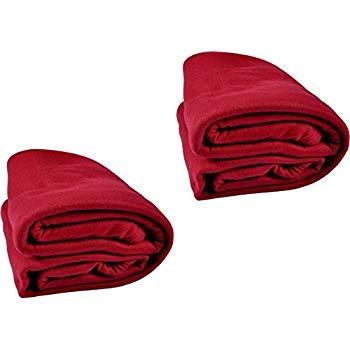 RS LITE Fleece Single Blanket Set of 2 RED