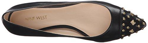 Nine West Women's Adelphine Leather Pointed Toe Flat Black 8fYfiA
